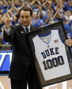 An institution at Duke and arguably one of the top five coaches in NCAA history, Mike Krzyzewski reach 1000 wins