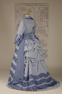 1860's replica of V&A costume as depicted in Janet Arnold's Patterns of Fashion