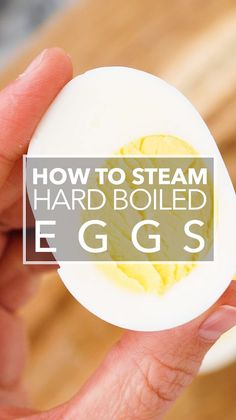 You want to know the best way to make hard boiled eggs? Steam them! That's right, forget about boiling the eggs, just steam them in a steamer basket. Some of the air from the hot steam permeates the egg shell making the egg more easy to peel. Steamed Hard Boiled Eggs, Easy Hard Boiled Eggs, Hard Boiled Egg Recipes, Cooking Hard Boiled Eggs, Boiled Egg Diet Plan, Steamed Eggs, Egg And Grapefruit Diet, Perfect Hard Boiled Eggs, Deviled Eggs Recipe