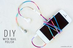 Perfectly Polished Headphones  You already have everything you need to recreate this project from Cremé de la Craft: masking tape, bright ...