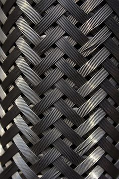 This piece shows pattern and texture because of the way the metal is weaved together. The metal also creates a pattern from light to dark in the weave, giving the piece visual appeal. Texture Metal, 3d Texture, Texture Design, Plastic Texture, Graphic Pattern, Pattern Design, Textures Patterns, Color Patterns, Textiles
