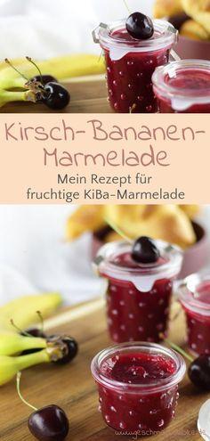Fruity cherry banana jam for breakfast - Marmelade - Banana Recipes Mexican Breakfast Recipes, Brunch Recipes, Meat Recipes, Mexican Food Recipes, Drink Recipes, Chutneys, Banana Jam, Banana Bread, Breakfast Desayunos