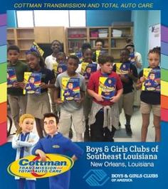Cottman Transmission and Total Auto Care's Coloring Books Travel to the Boys and Girls Club of Southeast Louisiana! #ColorMeCottman