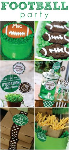 Super creative football party ideas