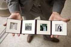 When you have to wait weeks to get pictures to the bride, you can do this now and get polaroids to them at the wedding. Great idea ABryanPhoto!