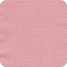 Tissu pois rose pétale