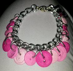 January 25th: Pink buttons bracelet