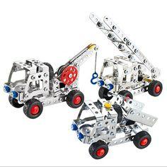 Beby 3IN1 Metal Model Kits Set 137Pcs Vehicle Series for