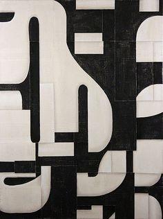 black = negative space (cecil touchon)
