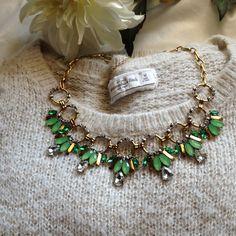"Selling this ""Emerald Statement Necklace"" in my Poshmark closet! My username is: nayla1988. #shopmycloset #poshmark #fashion #shopping #style #forsale #Jewelry"