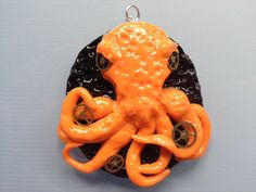 Steampunk Octopus Pendant with gear accents by ConstantMindJewelry, $13.99
