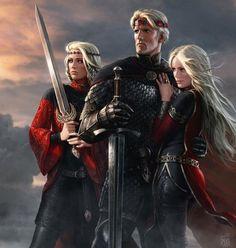 Aegon, Visenya, and Rhaenys