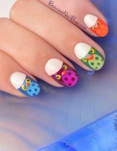 owl nails-3 | Flickr - Photo Sharing!
