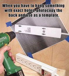 faire une photocopie de l'objet à trouer pour être sûr du positionnement :)