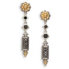 Konstantino Asteri Pave Black Diamond & Onyx Double-Drop Earrings G3pkRq