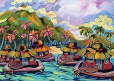 """""""Oscar's Visit"""" by Kim McDonald at Maui Hands"""