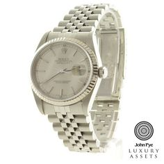 #Rolex Datejust gents stainless steel watch and jubilee bracelet. Watch features a silver dial and an automatic movement.