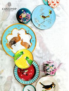 #PressWatch! There is no rule that dinner plates need to all look the same. Collecting a mix of plate designs over time can be a fun exercise. Keep an eye out for unique and trendy designs at Casa Pop stores for a variety collection