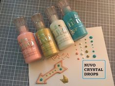 How To Use Nuvo Crystal Drops & Glitter Drops - Tonic Studios Tutorial - Jodie Johnson - YouTube