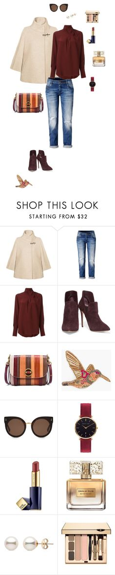 """Beige jacket"" by ulusia-1 ❤ liked on Polyvore featuring FAY, Chloé, Casadei, Tory Burch, Chico's, STELLA McCARTNEY, Abbott Lyon, Estée Lauder and Givenchy"