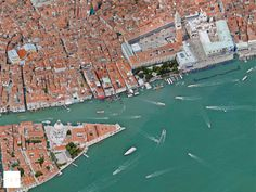 Google Earth shot of Venice - St. Mark's Square.