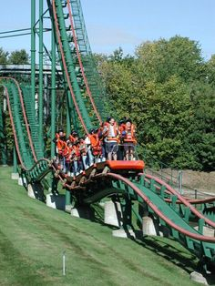 Skyrider at Canada's Wonderland, Ontario, Canada, opened in 1985 and was the park's fifth coaster - it is notable old school stand-up coaster built by TOGO; few are still in operation, and this one is apparently quite smooth; alas it closed on 1 September 2014