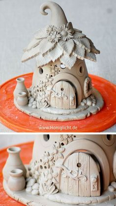 Polymer Clay Fairy, Polymer Clay Crafts, Diy Clay, Clay Fairy House, Fairy Garden Houses, Fairy Crafts, Diy And Crafts, Simple Crafts, Felt Crafts