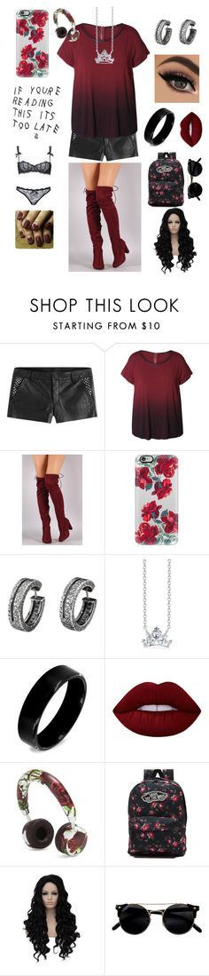 """Teenage kicks"" by annaelizabeth24 ❤ liked on Polyvore featuring Zadig & Voltaire, Dex, Casetify, Pieces, Belk Silverworks, West Coast Jewelry, Lime Crime, Dolce&Gabbana, Vans and plus size clothing"