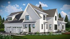 Modern Farmhouse with Vaulted Master Suite - 14661RK thumb - 05