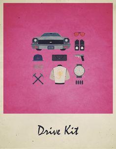 Drive Kit - Movies Hipster Kit, Alizée Lafon / Minimal Movies and series TV Poster