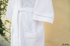 Santorini Robe | Luxury Bath Wear | Jan de Luz Linens