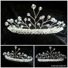 Wire and bead tiara