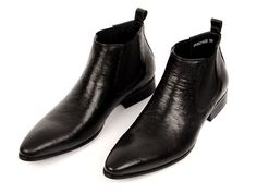 GRIMENTIN fashion winter classic vintage luxury men ankle boots genuine leather pattern dress shoes