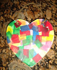 Teaching with TLC: Valentine's Tissue Paper Art Project