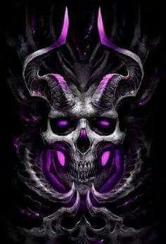 Dark Artwork Skull Design Grim Reaper Tattoo Art Demon