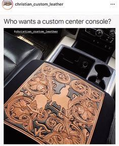 Leather Carving, Leather Tooling, Tooled Leather, Leather Bags, Cute Car Accessories, Leather Accessories, Leather Jewelry, Diy Leather Projects, Leather Craft