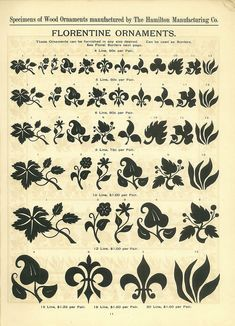 Florentine Ornaments from from Hamilton Wood Type Catalog #14, 1899-1900