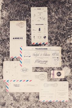 French wedding invitations | Photo by Anne-Claire Brun | Read more - http://www.100layercake.com/blog/?p=68650