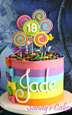 Candy Shop • themed cake from Amazing Cake Ideas. (Inspiration)