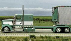Semitrckn — Kenworth custom with matchin reefer Show Trucks, Big Rig Trucks, Old Trucks, Custom Big Rigs, Custom Trucks, Trailers, 6x6 Truck, Truck Paint, Heavy Duty Trucks