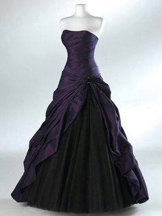 #Purple and #black #gown. #future #wedding  #dress