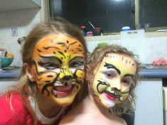 Tiger and lion face painting
