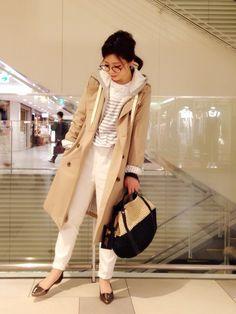 KATHARINE ROSS 難波店 megmiさんのトレンチコート「【KATHARINE ROSS】カッセンバーバリートレンチ」(KATHARINE ROSS キャサリンロス)を使ったコーディネートです。