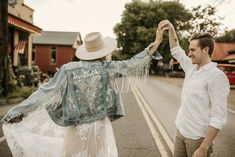 From oh-so extra wedding dresses to darling reception decor, these celestial wedding details from Etsy are sure to leave you starry-eyed. Celestial Wedding, Wedding Jacket, Fringe Jacket, Bohemian Style, Angeles, Just For You, Wedding Dresses, Lace, Hand Painted