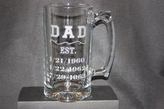 Personalized Beer Stein Beer Mug Beer Glass Father's