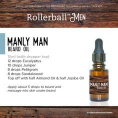 Essential Oil For Men, Oils For Men, Essential Oil Perfume, Essential Oil Blends, Homemade Essential Oils, Natural Essential Oils, Homemade Beard Oil, Diy Beard Oil, Beard Oil And Balm