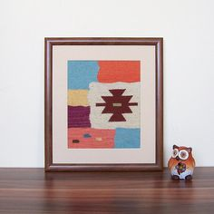 Handwoven wool framed art handwoven wall art tapestry by RugsNBags