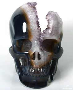 Veblen effect - Appeal principle Crystals And Gemstones, Stones And Crystals, Tattoo Crane, Amethyst Geode, Crystal Skull, Rocks And Gems, Skull And Bones, Skull Art, Rocks And Minerals