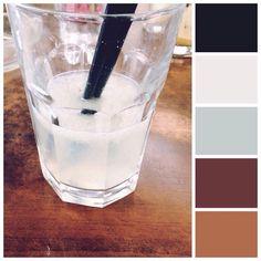 nothing beats #cold #lemonade while working :) #colors #colourpalette #mossomcolours #colourscheme #colourpalette