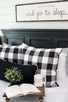 Rustic Farmhouse Master Bedroom Ideas Love the saying